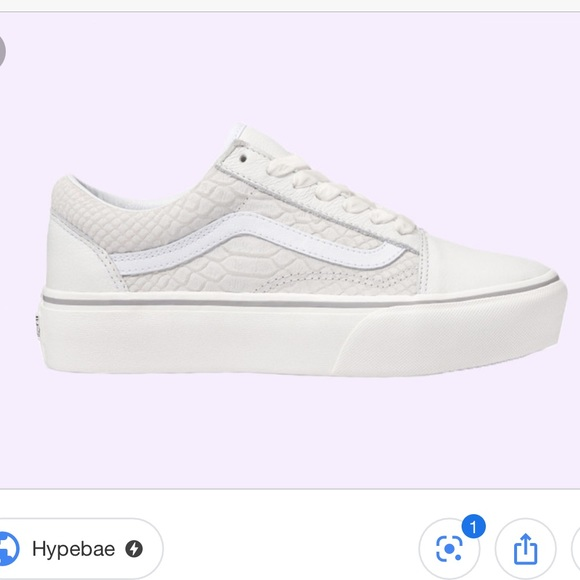 Vans Old Skool White Snakeskin Platform Sneakers
